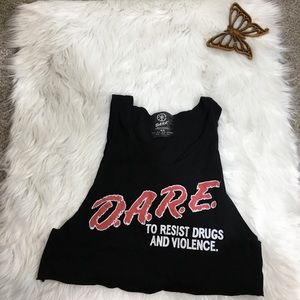 DARE Cropped Tank Top